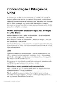 Concentração e Diluição da Urina