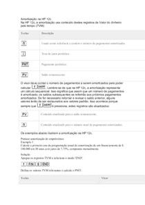 APRENDA A CALCULAR AMORTIZAÇÃO NA HP 12C