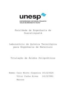 Relatório Titulação de Ácidos Polipróticos