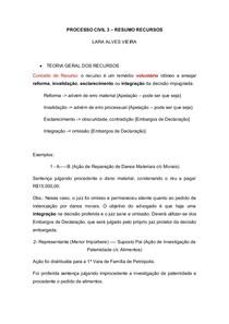 1 - PROCESSO CIVIL RECURSO