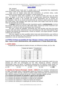 Sérgio Carvalho - Curso de Estatística e Matemática Financeira