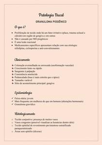 Patologia Bucal - Granuloma piogênico