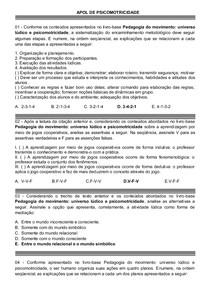 APOL DE PSICOMOTRICIDADE