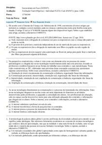 Licenciatura em Foco (LED107) - Avaliação Final Objetiva - Individual FLEX