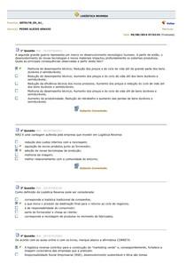 LOGÍSTICA REVERSA - Avaliando o aprendizado 2014.2