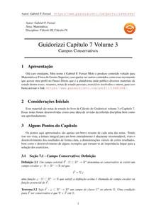 Guidorizzi vol 3 capítulo 7 - Notas de Estudo