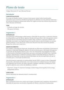 Plano de texto - A liberdade de expressão na sociedade brasileira