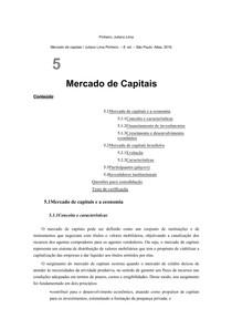 5   Mercado de Capitais