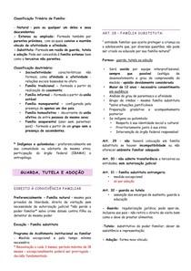 RESUMO - ECA - 03 - GUARDA, TUTELA E ADOÇÃO NO ESTATUTO DA CRIANÇA E DO ADOLESCENTE