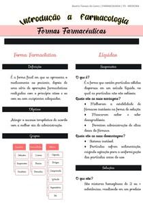 Farmacologia - Formas Farmacêuticas