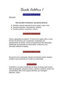 Saúde Coletiva 1 - Territorialização