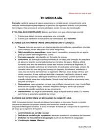 HEMORRAGIA - PATOLOGIA