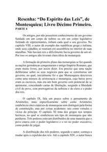 Resenha - Do Espírito das Leis - Montesquieu - Livro XI (parte 4)