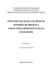 IMPLEMENTAÇÃO DE UMA REDE DE SENSORES UTILIZANDO DISPOSITIVO TEXAS EZ430-RF2500