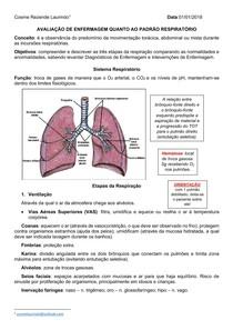 Avaliação de enfermagem quanto ao padrão respiratório