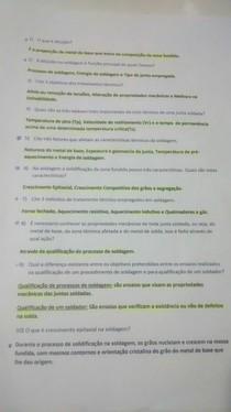 PROVA PROCESSOS DE FABRICAÇÃO 1 AV2