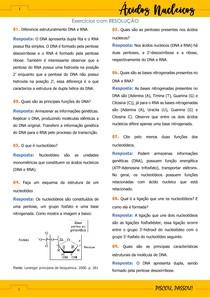 Estudo dirigido de bioquímica - Ácidos Nucleicos