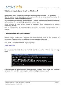 Tutorialde Instalacao JAVA windows 7