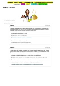 Aula 15 - Exercício_ Ética e Bioética em Saúde (on-line)