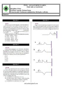 02 - Fenômenos ondulatórios refração e reflexâo