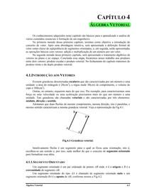 Apostila   Cap 4   Álgebra Vetorial