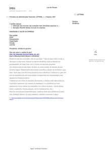 Anotações das aulas de Rotinas Financeiras