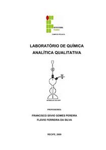 Apostila de Química Analítica Qualitativa