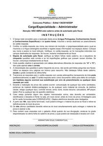 ufsc 2019 ufsc administrador prova