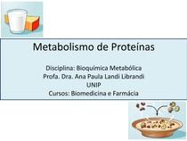 Aula 3 Metabolismo de Proteínas  aula 2016 Ana Paula