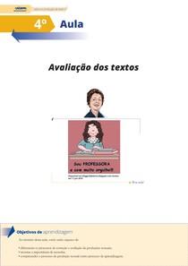 Avaliação dos textos