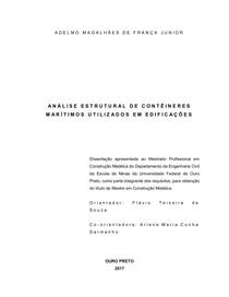 Análise Estrutural Contêineres