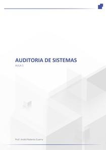 Auditoria de Sistemas Aula 1