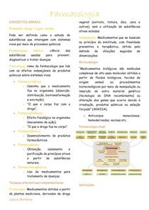 Farmacologia - conceitos iniciais, vias de administração, lipossolubilidade, pKa, distribuição, redistribuição e excreção dos fármacos, farmacodinâmica.