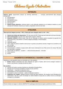 Abdome Agudo Obstrutivo - Aspectos Radiológicos