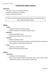 Linfonodos de cabeça e pesoço pdf