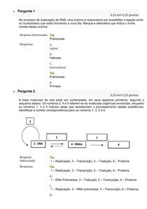 Prova de processo biológico A1 B