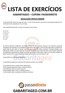 RESOLUÇÃO PROVA VESTIBULAR - FAMERP EXCLUSIVO 04