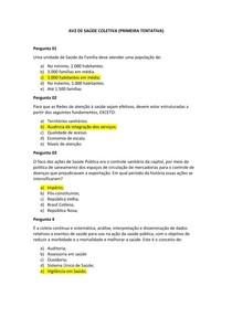 AV2 de Saúde Coletiva   Segunda avaliação