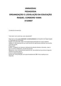 Atividade Contextualizada - Organização e Legislação da Educação