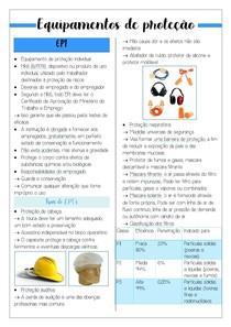 Equipamentos de proteção (EPI's e EPC's)