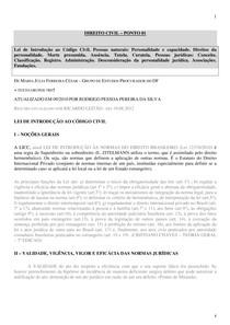 Anotações - Direito Civil - 01 de 09