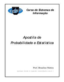 Apostila de Probabilidade e Estatística