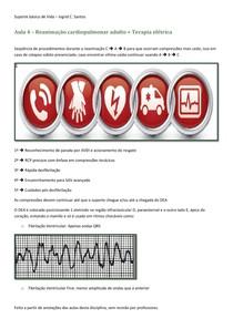 Aula 4 – Reanimação cardiopulmonar adulto + Terapia elétrica