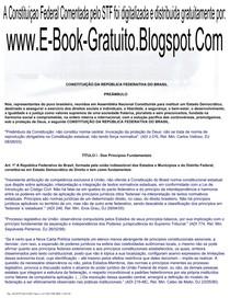 CONSTITUIÇÃO FEDERAL COMENTADA - ATUALIZADO