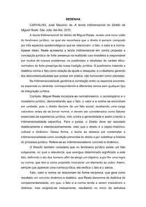 A teoria tridimensional do Direito de Miguel Reale