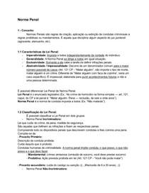 Norma Penal - Conceito, Características, Classificação, Norma Penal em Branco e Tipo Aberto