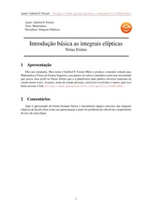 Integrais elípticas: básico