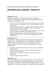 Arte e música na educação semana 5 Univesp