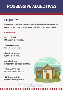 POSSESSIVE ADJECTIVES - INGLÊS BÁSICO