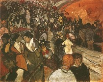Vincent Willem van Gogh-espectadores-in-the-Arena-at-Arles